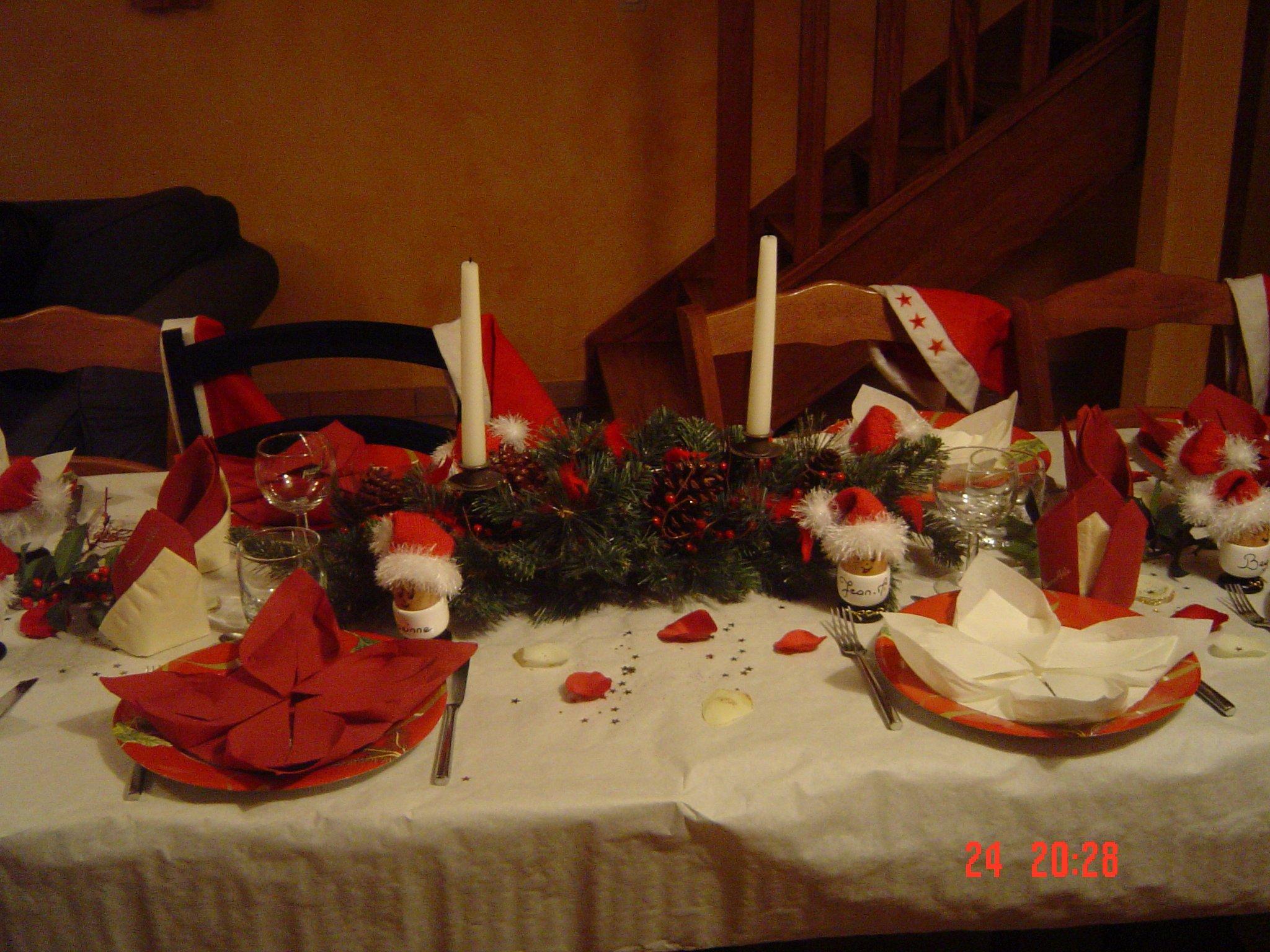 #B73114 Idée De Décoration De Table De Noël · Les Créations De Coco 5713 idée décoration noel classe 2048x1536 px @ aertt.com